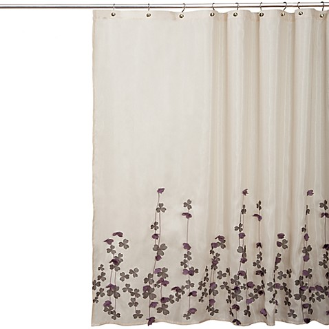 Flower Drop Fabric Shower Curtain Bed Bath Beyond