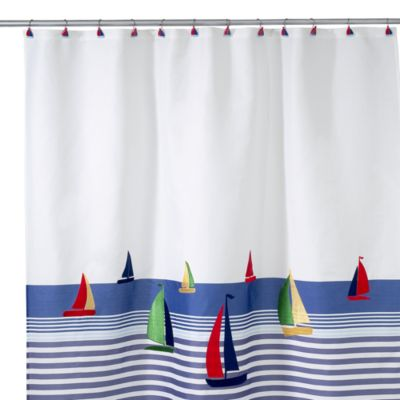 Avanti Regatta 70-Inch x 72-Inch Fabric Shower Curtain
