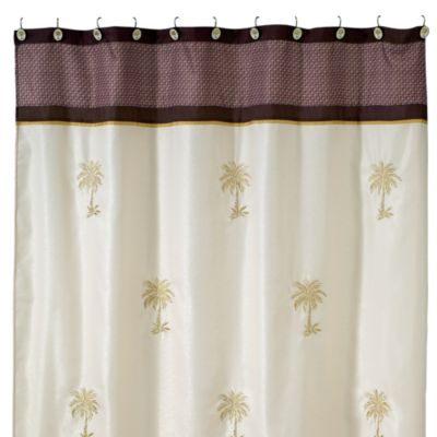 Avanti Oasis Palm 70-Inch x 72-Inch Fabric Shower Curtain