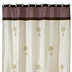 Oasis Palm Fabric Shower Curtain