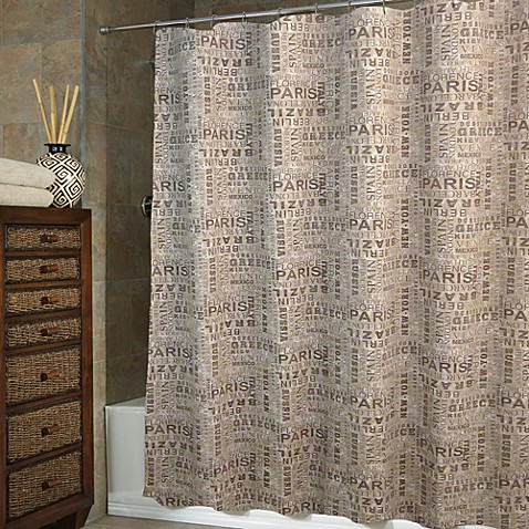Locations 72-Inch x 75-Inch Fabric Shower Curtain