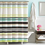 kate spade new york Candy Stripe Fabric Shower Curtain