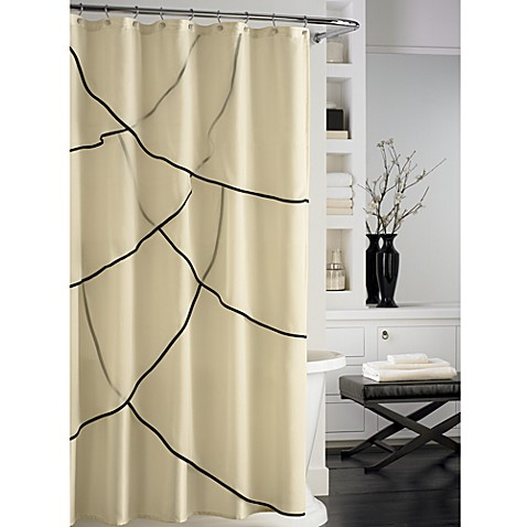 Nicole Miller® Silhouette Fabric Shower Curtain