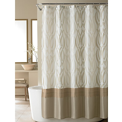 Nicole Miller® Golden Rule Fabric Shower Curtain