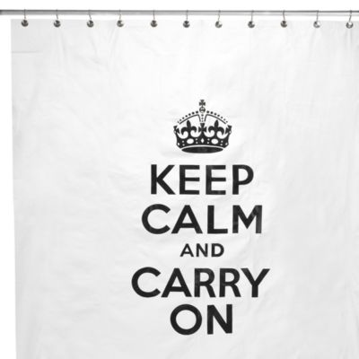 Keep Calm 72-Inch x 72-Inch Shower Curtain