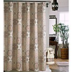 J. Queen Casablanca 72-Inch x 72-Inch Fabric Shower Curtain