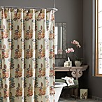 Croscill Mosaic Leaves Fabric Shower Curtain