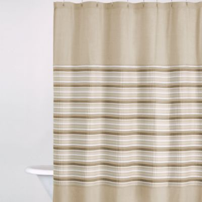 DKNY Sahara 72-Inch x 72-Inch Fabric Shower Curtain in Cappuccino