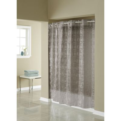 Hookless® 3D Smoke Puzzle 71-Inch W x 74-Inch L Shower Curtain