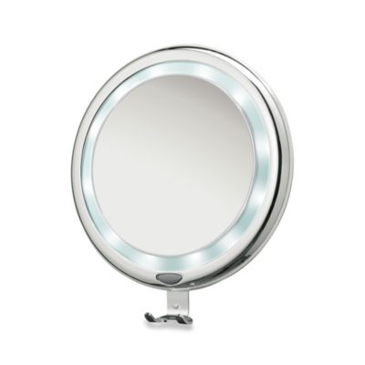 Brookstone® 9-Inch Lighted Fogless Shower Mirror