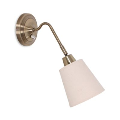 Catalina Lighting Canopy HB Wall Sconce with Linen Swivel Shade in Bronze