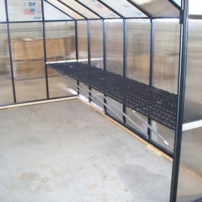 Riverstone Monticello 8' Workbench System for 8' Greenhouse in Black