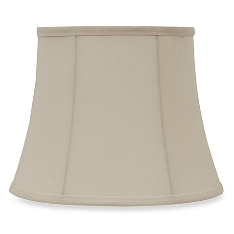 Mix & Match Small 11-Inch Linen Modified Bell Lamp Shade in Ivory