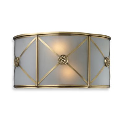 ELK Lighting Preston 2-Light Sconce in Brushed Brass