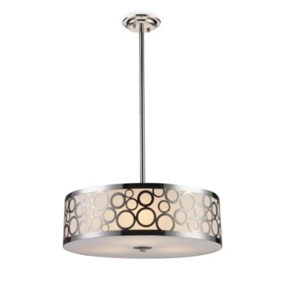 ELK Lighting Retrovia 3-Light Chandelier In Polished Nickel