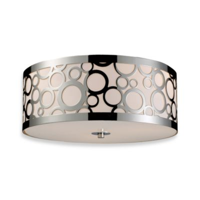 Retrovia 3-Lght Flush Mount-Polished Nickel