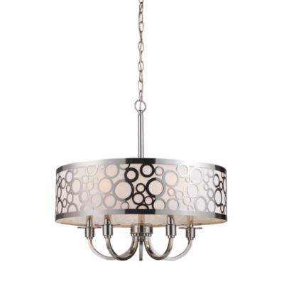 ELK Lighting Retrovia 5-Light Chandelier In Polished Nickel