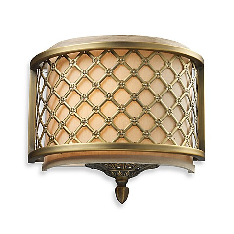 ELK Lighting Chester 1-Light Sconce In Brushed Antique Brass