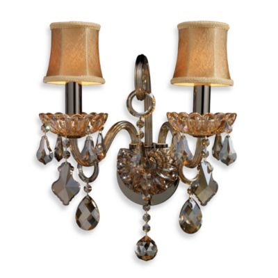 ELK Lighting Julianne 2-Light Sconce in Black Chrome/Amber
