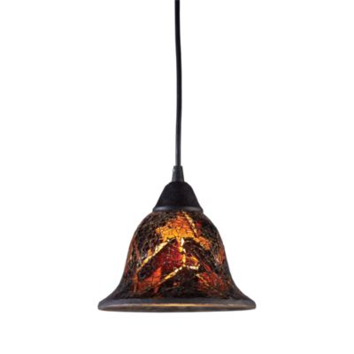 ELK Lighting Firestorm 1-Light Pendant in Dark Rust