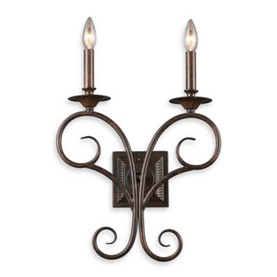ELK Lighting Gloucester 2-Light Sconce in Antique Bronze