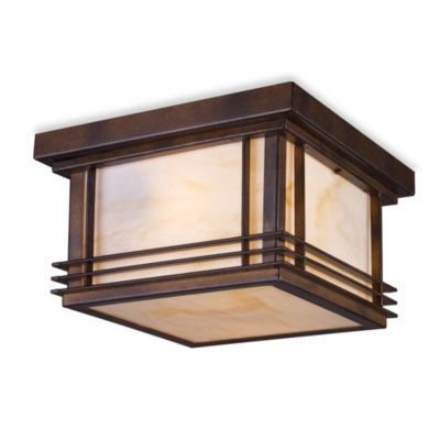 ELK Lighting Blackwell 2-Light Outdoor Flush Mount in Hazelnut Bronze