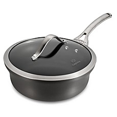Calphalon® Contemporary Nonstick 2.5-Quart Covered Shallow Saucepan in Black