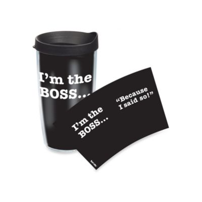 Tervis® I'm the Boss Wrap 16-Ounce Tumbler with Black Lid