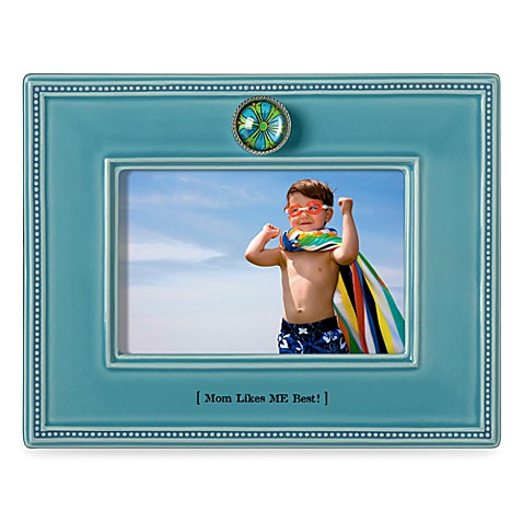 Mom Likes Me Best Ceramic 4-Inch x 6-Inch Frame
