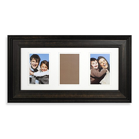 Pine Wood Three Opening 4-Inch x 6-Inch Photo Frame