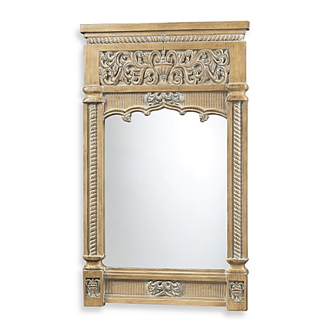 Dimond Lighting Guilford Carved Mirror in Bleached Wood Finish