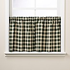 Country Check 2-Inch Window Curtain Tiers
