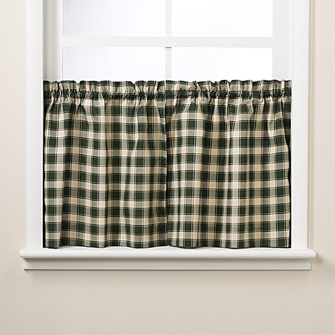 Country Check 24-Inch Window Curtain Tier