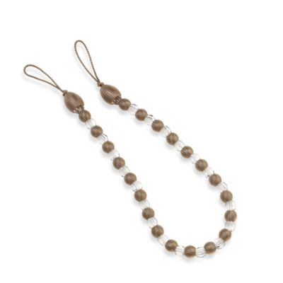 Arlington Rayon Bead with Crystal Bead Tieback in Cream