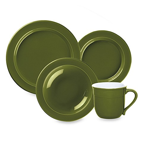 Emile Henry 4-Piece Place Setting in Olive