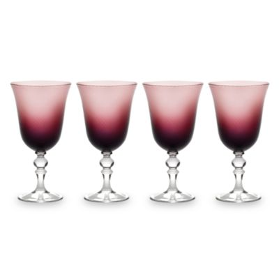 Mikasa® Charade Plum 14-Ounce Goblets (Set of 4)