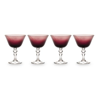 Mikasa® Charade Plum 15-Ounce Margarita Glasses (Set of 4)