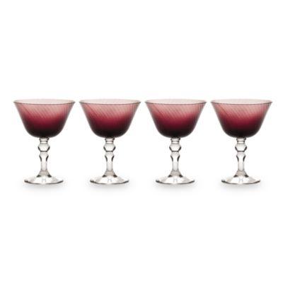 Mikasa® Charade Plum 15-Ounce Margarita Glasses (Set of 4)