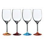 Royal Doulton® Pop In For Drinks 11 3/4-Ounce Etched Motif Wine Glasses (Set of 4)