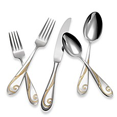 Yamazaki® Golden Wave 5-Piece Flatware Place Setting