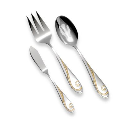 Yamazaki® Golden Wave 3-Piece Serving Set