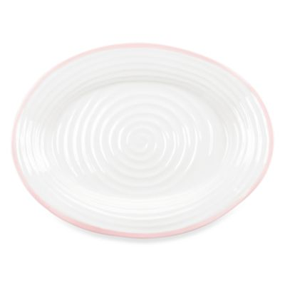 Sophie Conran for Portmeirion 17-Inch Carnivale Oval Platter in White/Pink