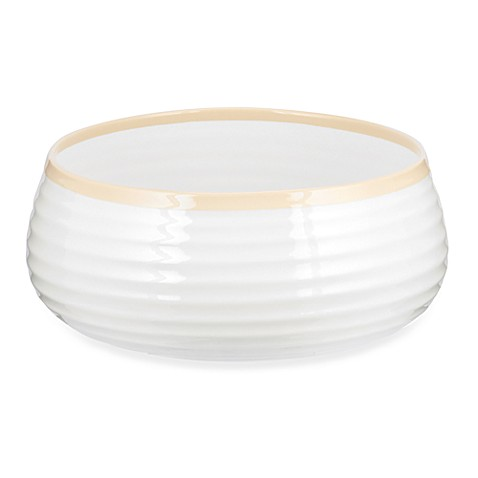 Sophie Conran for Portmeirion 10-Inch Carnivale Bowl in White/Biscuit