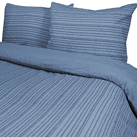 Park B. Smith® Weston King Duvet Cover Set in Demin