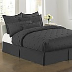DKNY City Black Silk Bed Skirt