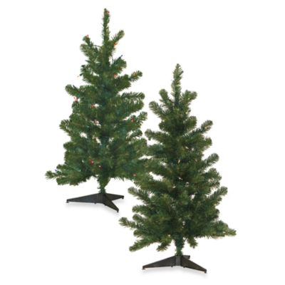 CMI Lites 3' Colorado Pine Artificial Trees with Lights