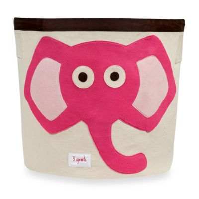 3 Sprouts Pink Elephant Storage Bin