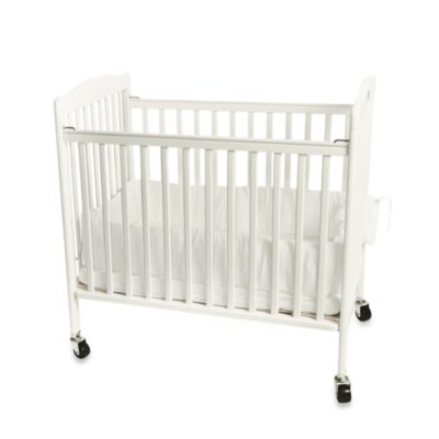 L.A. Baby Easy Lift Compact Folding Portable Crib in White