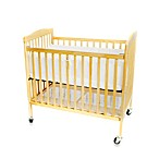 L.A. Baby Easy Lift Compact Folding Portable Crib in Natural