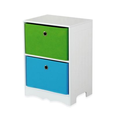 HDS Trading Two-Drawer Storage Shelf